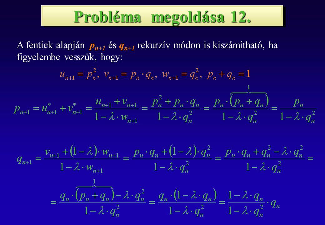 Probléma megoldása 12.