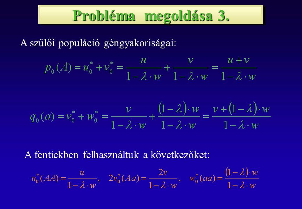 Probléma megoldása 4.Az 1.