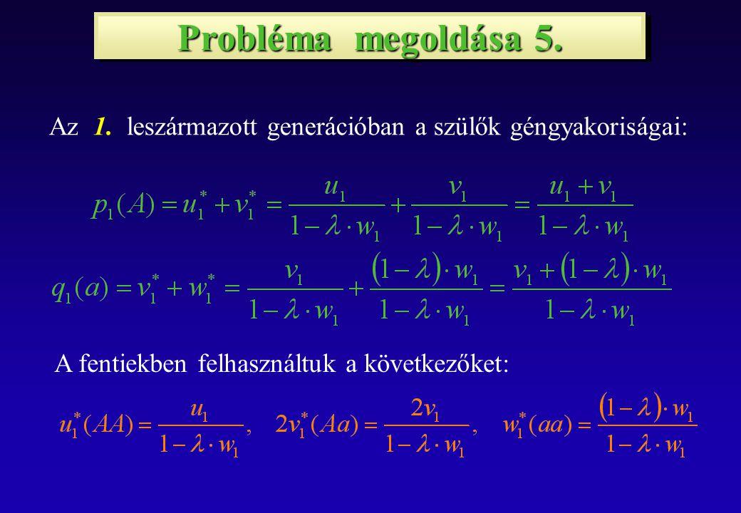 Probléma megoldása 5. Az 1.