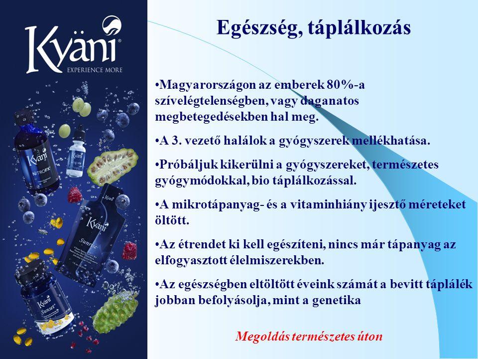 Megoldás természetes úton Egészség, táplálkozás Magyarországon az emberek 80%-a szívelégtelenségben, vagy daganatos megbetegedésekben hal meg. A 3. ve