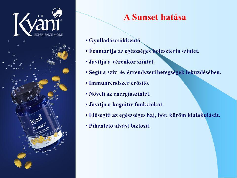 A Sunset hatása Gyulladáscsökkentő Fenntartja az egészséges koleszterin szintet. Javítja a vércukor szintet. Segít a szív- és érrendszeri betegségek l
