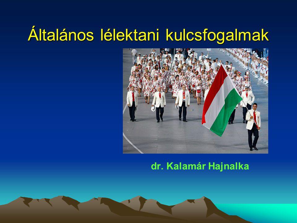 Általános lélektani kulcsfogalmak dr. Kalamár Hajnalka