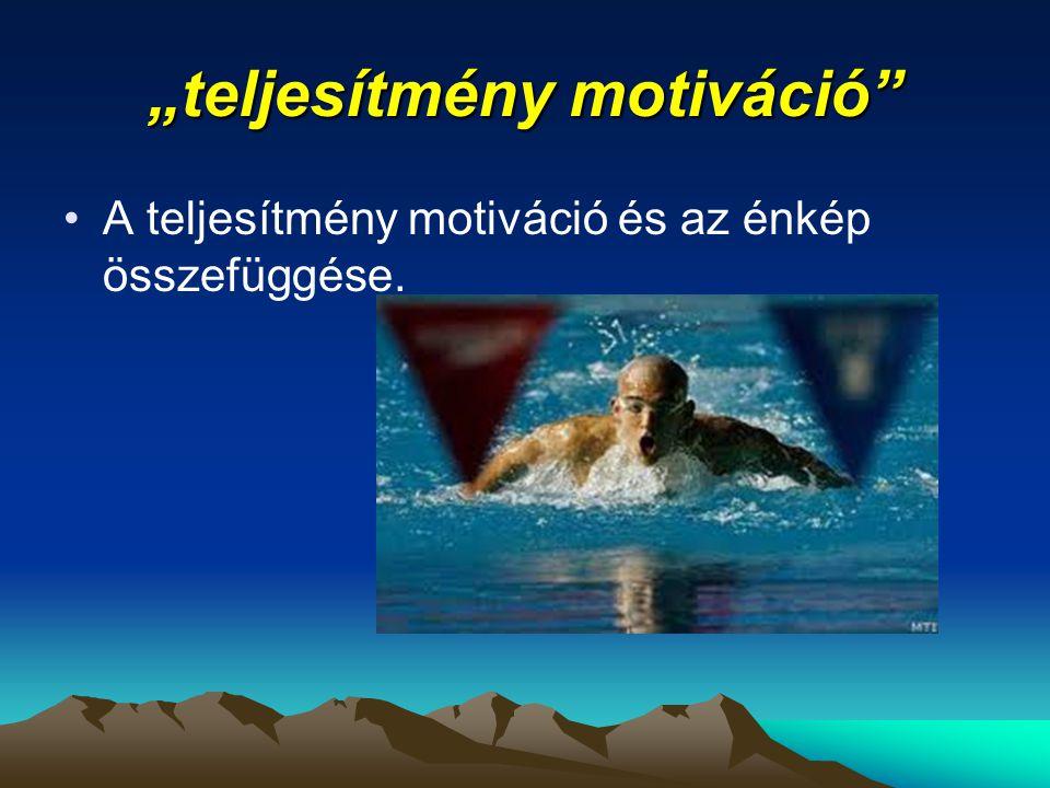 """""""teljesítmény motiváció"""" A teljesítmény motiváció és az énkép összefüggése."""