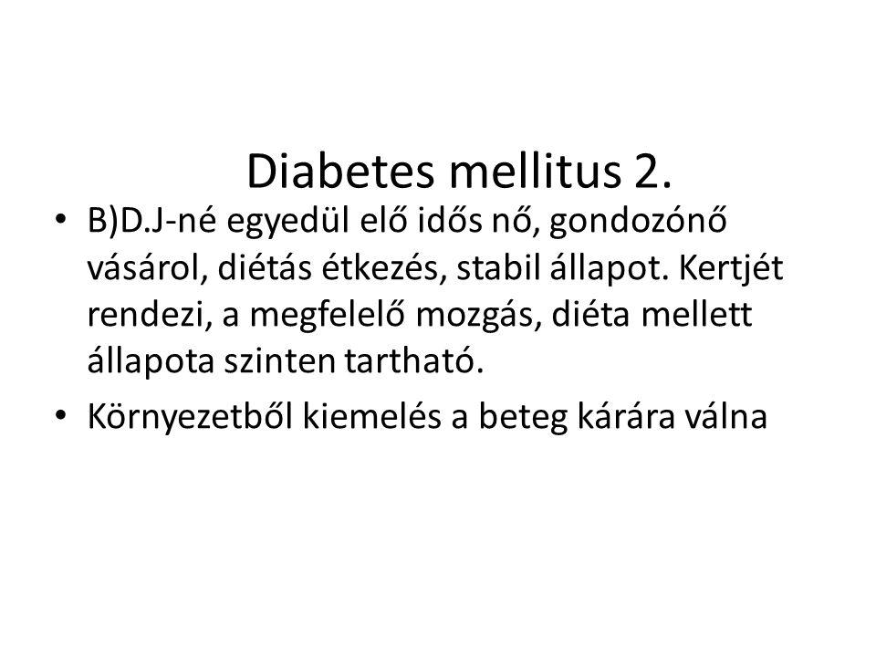 Diabetes mellitus 2.