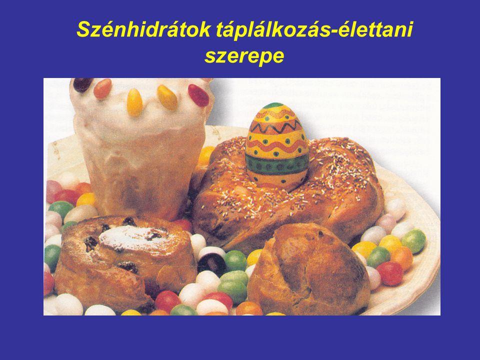 Szénhidrátok táplálkozás-élettani szerepe