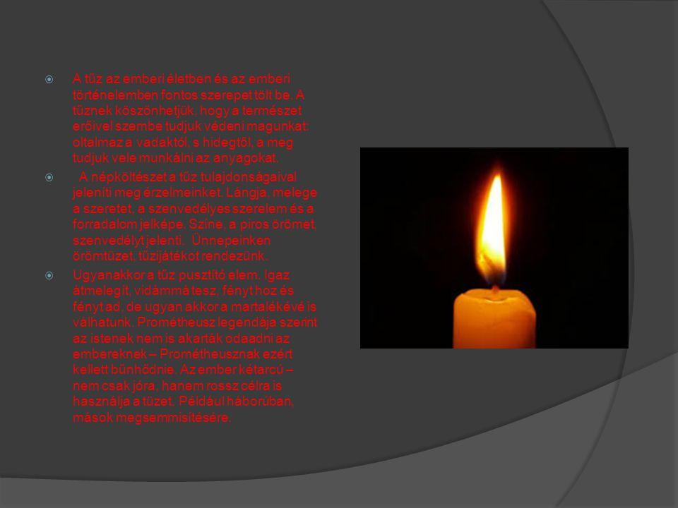  A tűz az emberi életben és az emberi történelemben fontos szerepet tölt be.