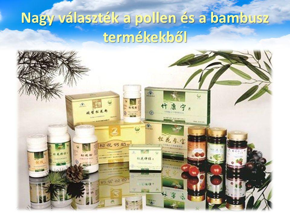 Nagy választék a pollen és a bambusz termékekből