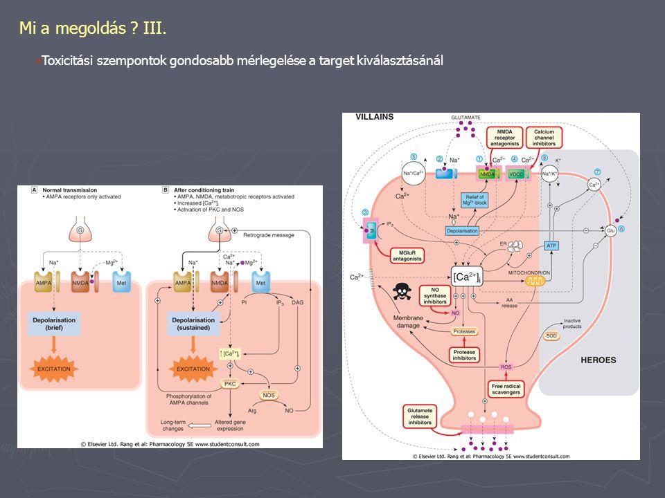 Mi a megoldás III. Toxicitási szempontok gondosabb mérlegelése a target kiválasztásánál