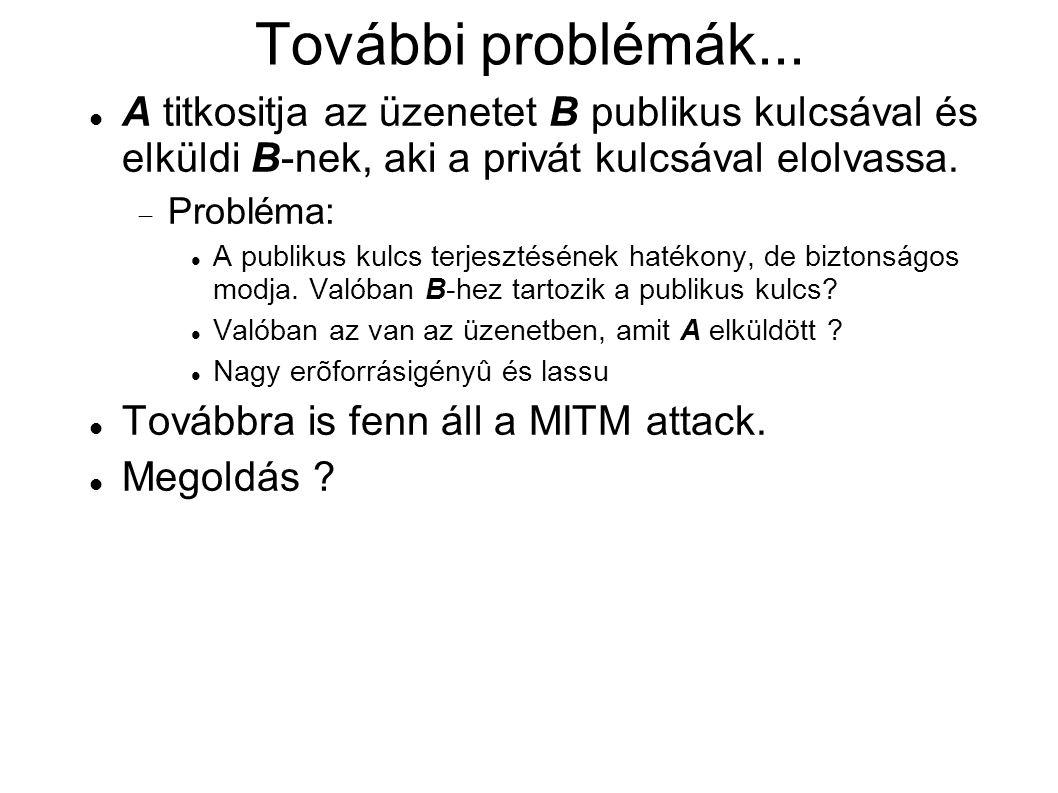További problémák...
