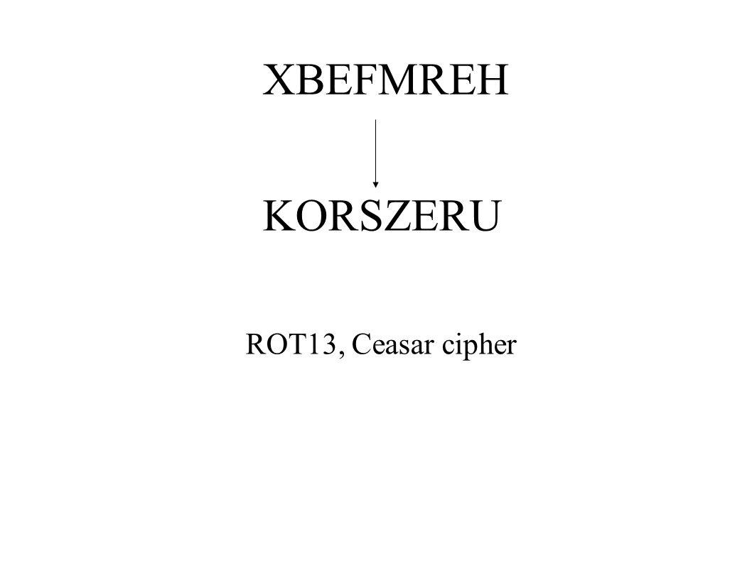 KORSZERU ROT13, Ceasar cipher
