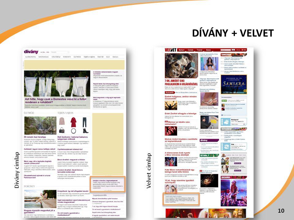 DÍVÁNY + VELVET 10 Velvet címlapDívány címlap