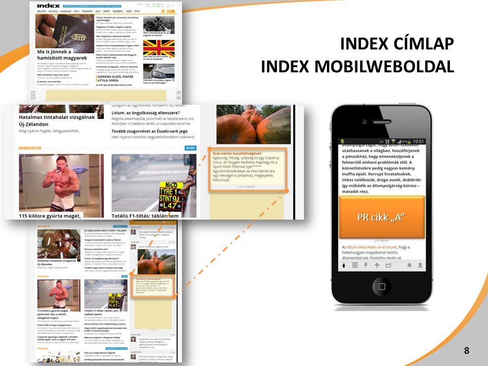 """INDEX CÍMLAP INDEX MOBILWEBOLDAL 8 PR cikk """"A"""""""