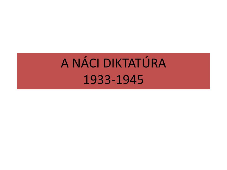 A NÁCI DIKTATÚRA 1933-1945