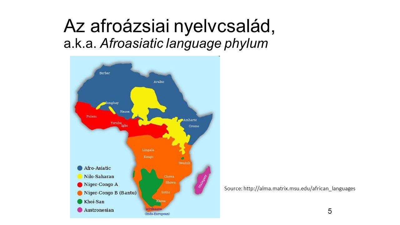 6 Az afroázsiai nyelvcsalád, a.k.a.