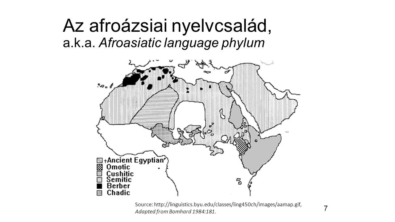 """8 A sémi nyelvek – """"gestalt megközelítés A.L. Schlözer 1781."""