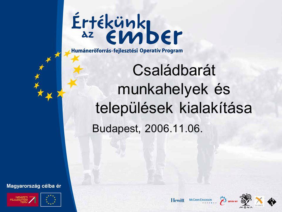 Családbarát munkahelyek és települések kialakítása Budapest, 2006.11.06.