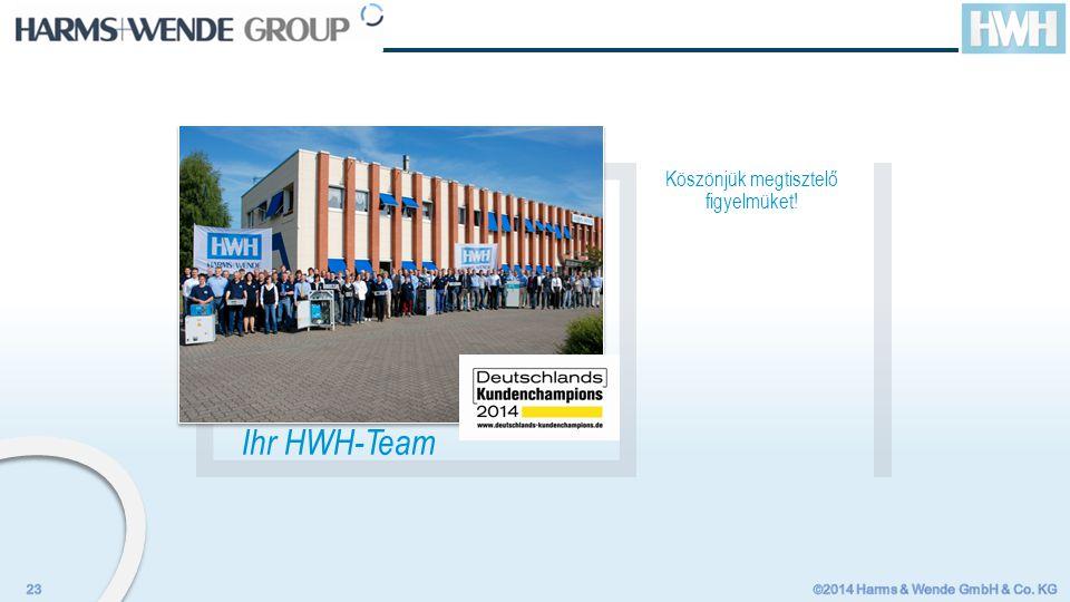 Ihr HWH-Team Köszönjük megtisztelő figyelmüket!