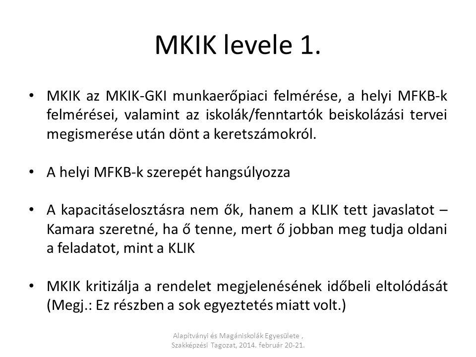 MKIK levele 2.A rendelettervezetben 2013.