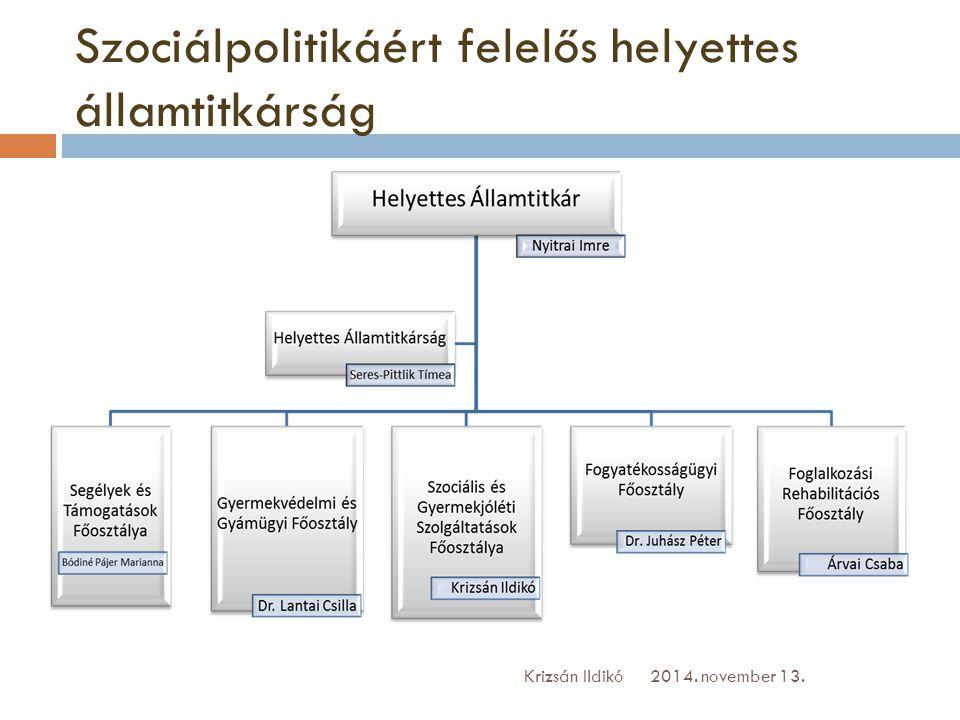Ideiglenes működési engedélyesek 2014. november 13.Krizsán Ildikó