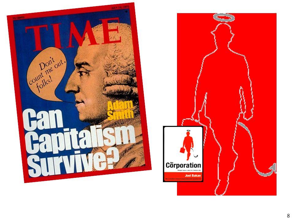 Corporate capitalism=Részvénytársasági kapitalizmus A fejlett modern nyugati gazdaságokról alkotott nézet, miszerint a termelő szférát a tulajdon és az irányítás szétválasztási elvével jellemzett nagy részvénytársaságok uralják.