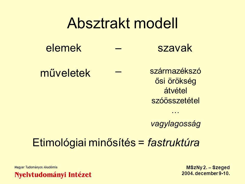 MSzNy 2.– Szeged 2004. december 9-10.