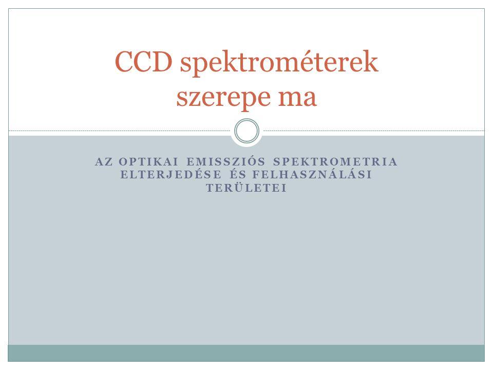 CCD Spektrométerek hőkezelőknek Hőkezelési eredmény hibák gyors kivizsgálása Reklamációs ügyek rövidre zárása Acélokban C, Cr, Ni, Mo, Si, Mg Mobil spektrométer megfelelő lehet Nem szükséges mintadarabot kivágni