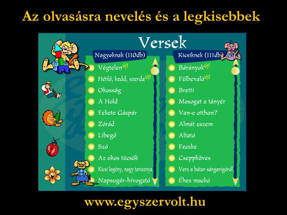Az olvasásra nevelés és a legkisebbek www.egyszervolt.hu