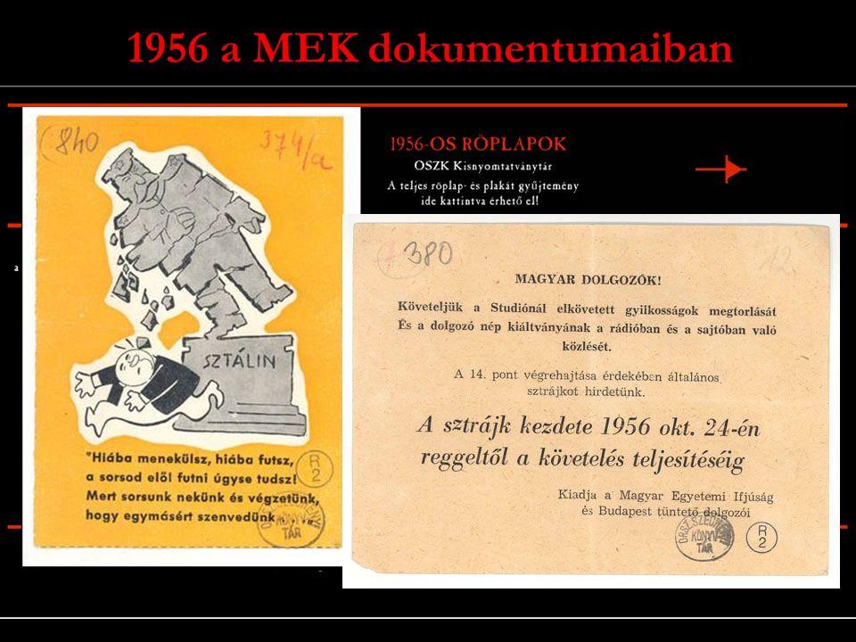1956 a MEK dokumentumaiban