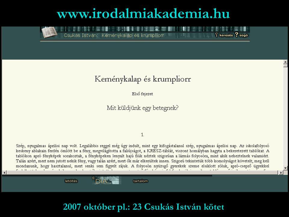 www.ki.oszk.hu/gyerekirodalom 4 saját mű; 2 fordítás