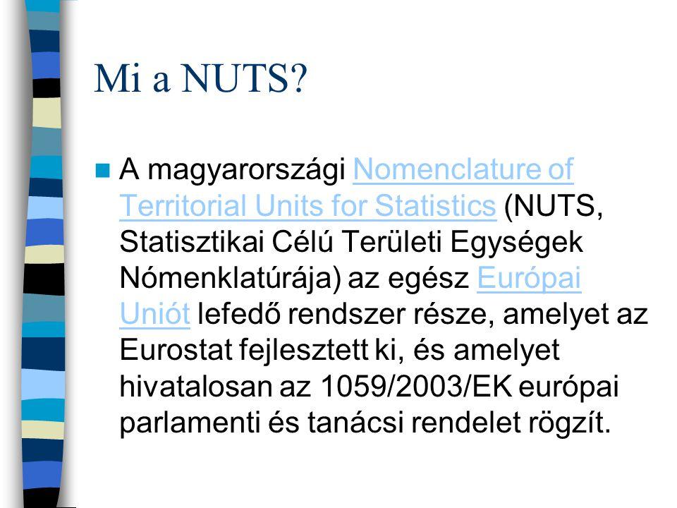 Mi a NUTS? A magyarországi Nomenclature of Territorial Units for Statistics (NUTS, Statisztikai Célú Területi Egységek Nómenklatúrája) az egész Európa