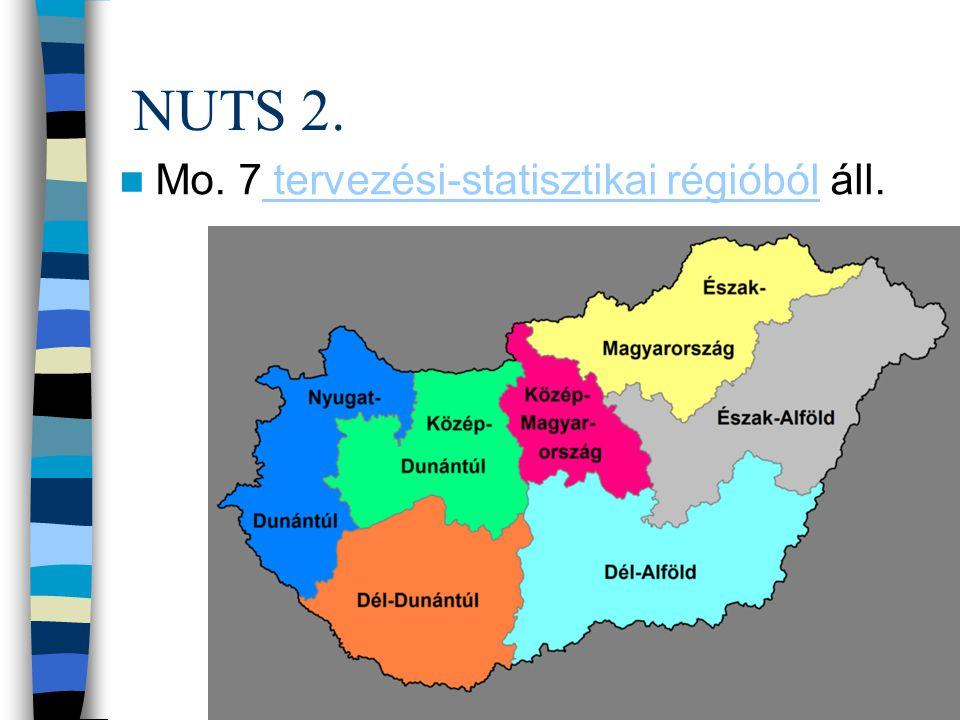 NUTS 2. Mo. 7 tervezési-statisztikai régióból áll. tervezési-statisztikai régióból