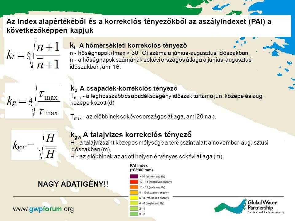 ASZÁLYINDEXEK SZÁMÍTÁSA - PADI A PAI módosításának, azaz a PADI indexnek az az alapvető célja, hogy a számításhoz szükséges adatok beszerzését és a számítások elvégzését megkönnyítse, és ilyen formán lehetővé tegye Magyarországon kívüli országok területén való alkalmazását is.