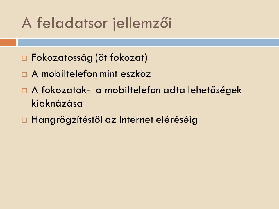 Az okostelefon további alkalmazási lehetőségei az anyanyelvi órákon  1.