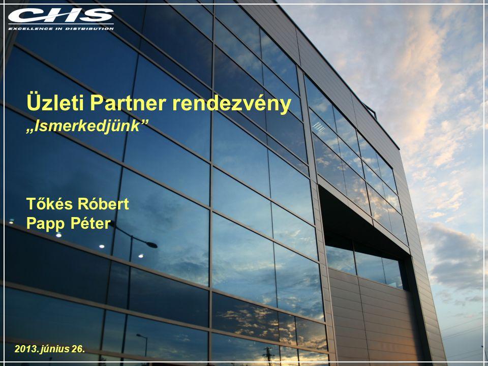 """Üzleti Partner rendezvény """"Ismerkedjünk Tőkés Róbert Papp Péter 2013. június 26."""