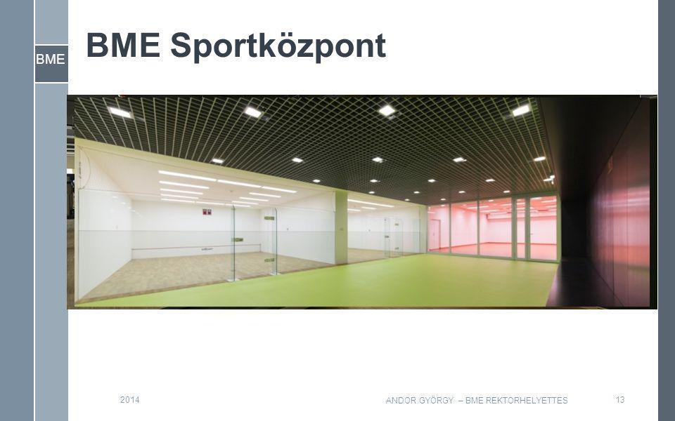 BME BME Sportközpont 132014 ANDOR GYÖRGY – BME REKTORHELYETTES