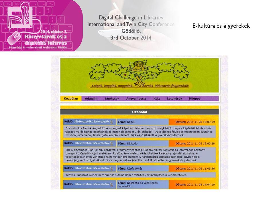 E-kultúra és a gyerekek