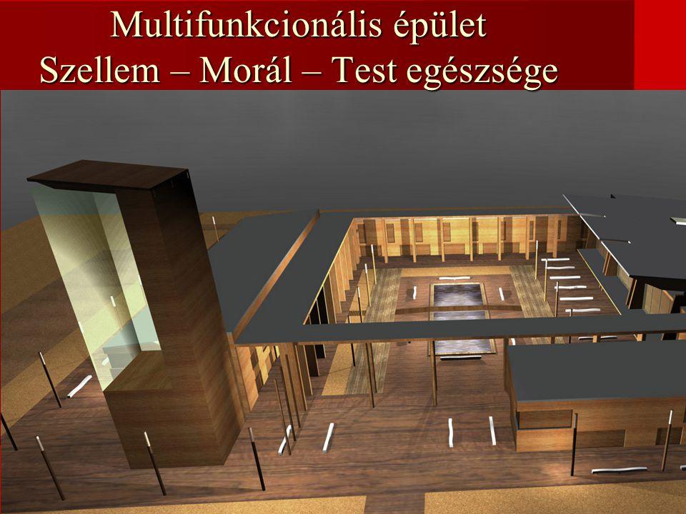 Multifunkcionális épület Szellem – Morál – Test egészsége