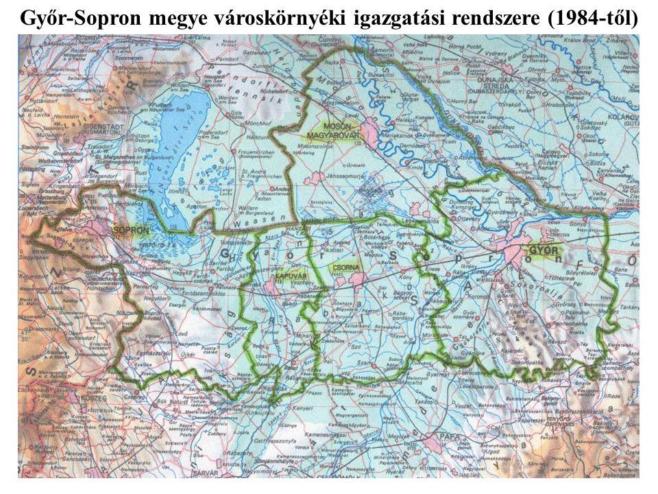Győr-Sopron megye városkörnyéki igazgatási rendszere (1984-től)