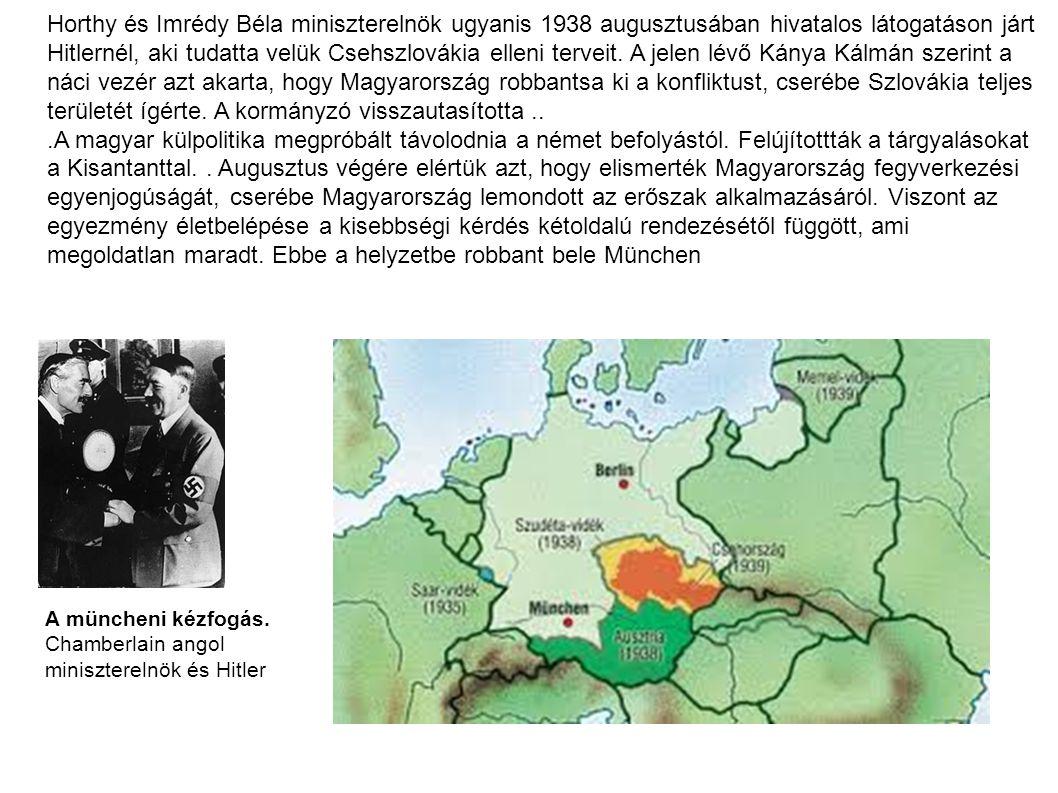 I.bécsi döntés 1938. nov.2 Felvidék Első zsidó törvény.