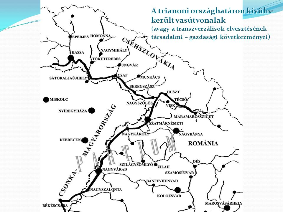 A trianoni országhatáron kívülre került vasútvonalak (avagy a transzverzálisok elvesztésének társadalmi – gazdasági következményei )