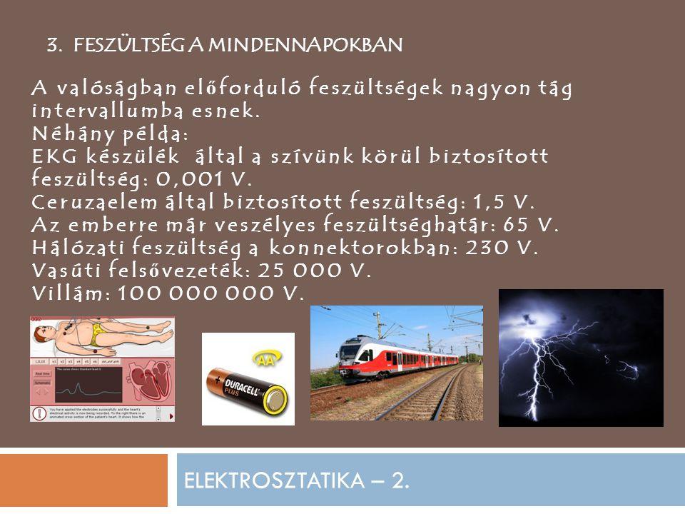 ELEKTROSZTATIKA – 2. 3.