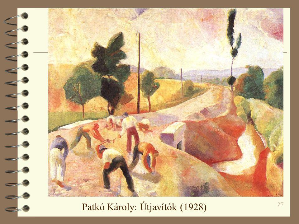 27 Patkó Károly: Útjavítók (1928)