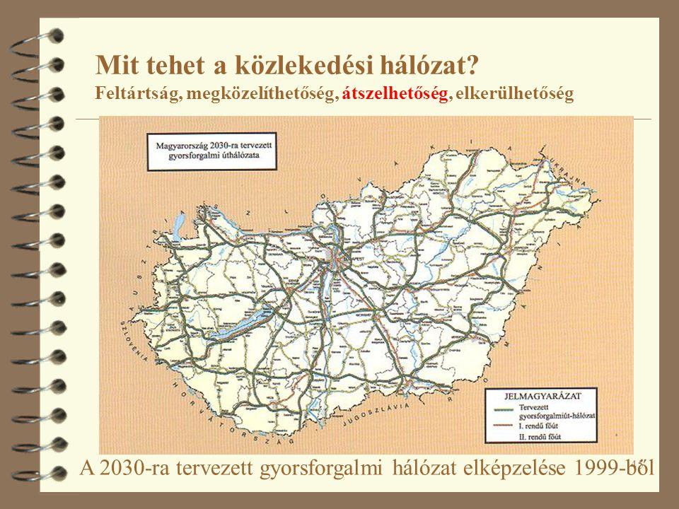 45 A 2030-ra tervezett gyorsforgalmi hálózat elképzelése 1999-ből Mit tehet a közlekedési hálózat.