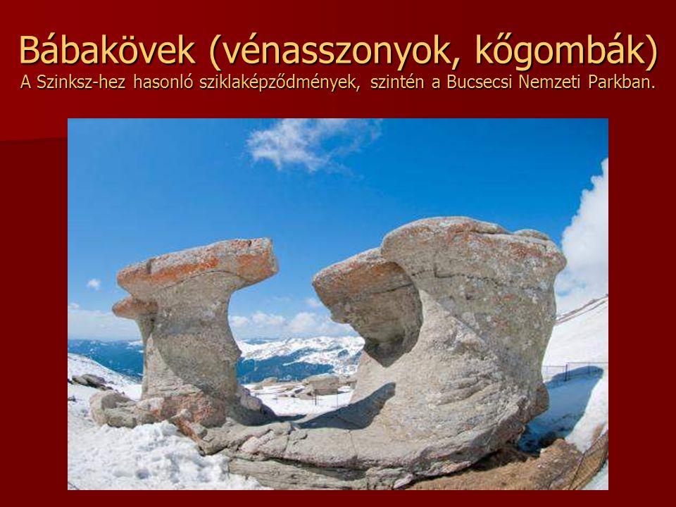 Szfinksz Kőgombák társaságában található a Bucsecs hegységben. A szél, a jég, a víz eróziója koptatta, csiszolta különös alakúvá a sziklákat.