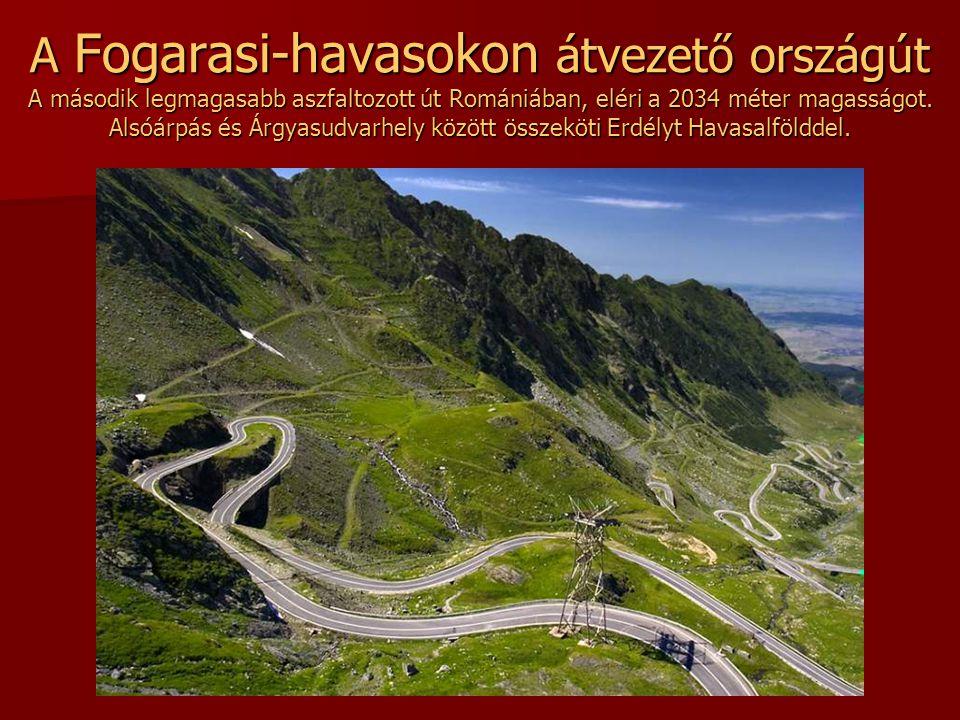 Transalpina A Déli Kárpátokon átvezető út a Páring hegy és a Sebes hegy között. Románia legmagasabban húzódó hegyi országútja, eléri a 2145 méter maga