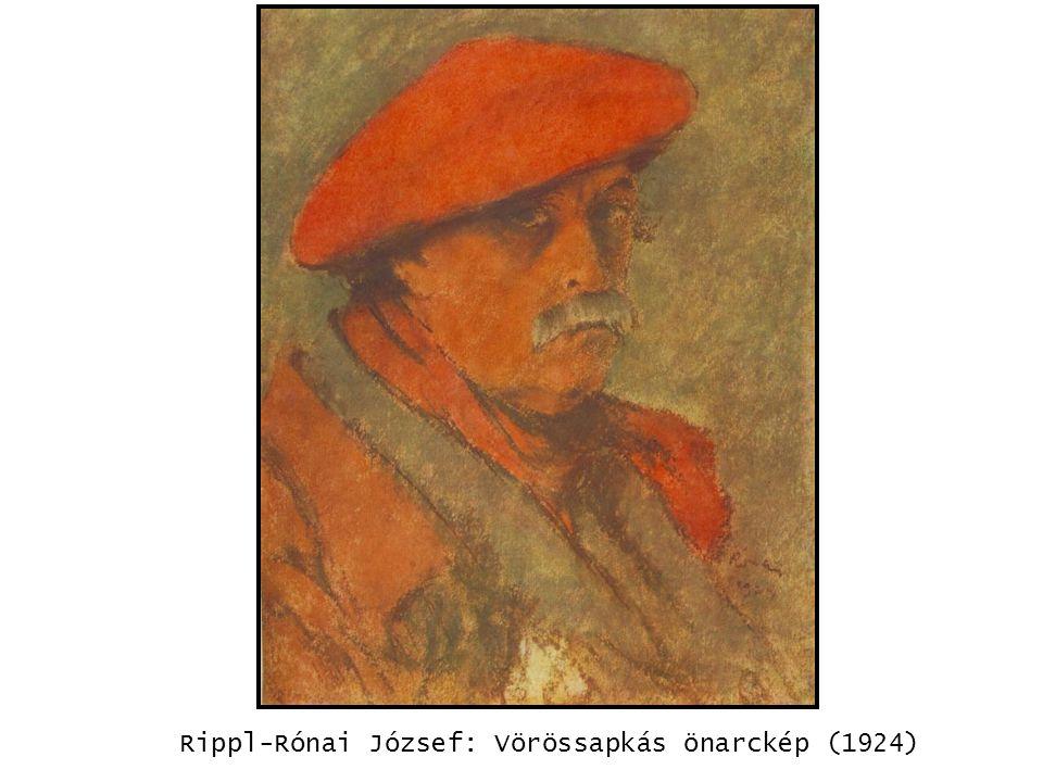 Rippl-Rónai József: Vörössapkás önarckép (1924) kép