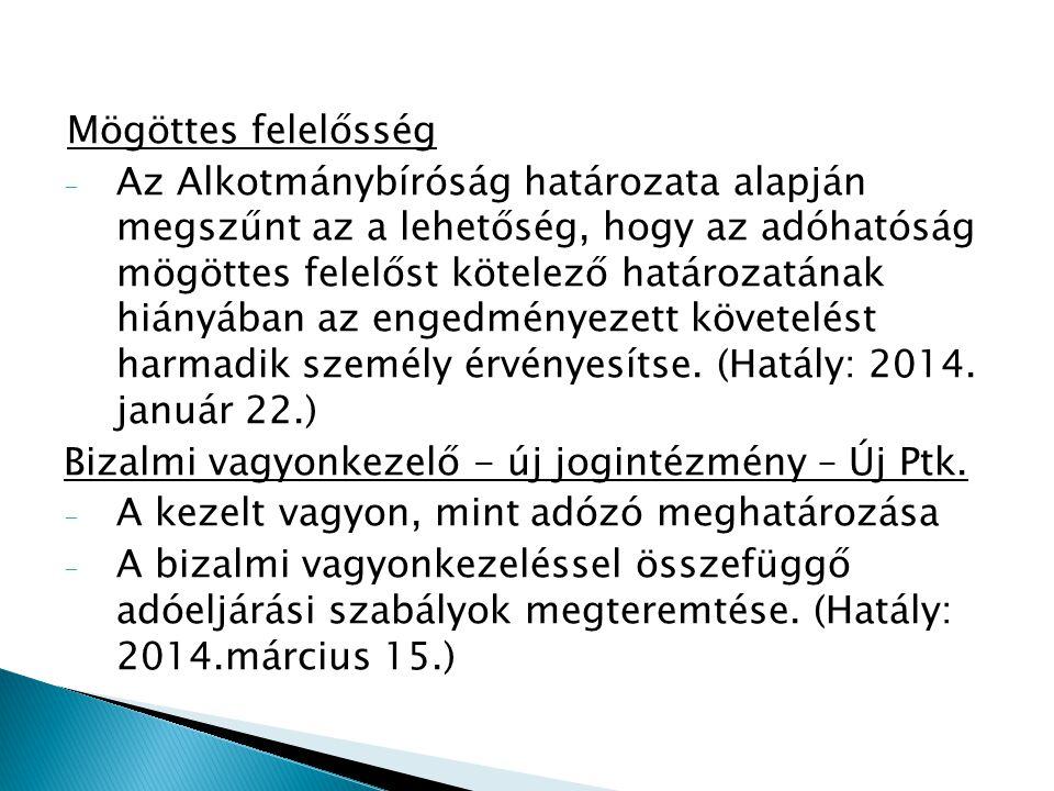 Adatszolgáltatás - Az adóhatóság megkeresésre tájékoztatja az adótitokról a Gazdasági Versenyhivatalt (Hatály: 2014.