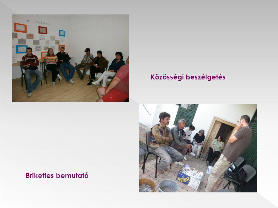 Közösségi beszélgetés Brikettes bemutató