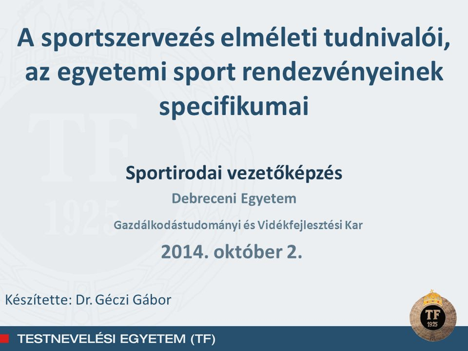 A sportesemények szervezése A projekt definíciója alapján – projektként kell kezelnünk minden olyan tevékenységet, amely a szervezet számára egyszeri, komplex feladatot jelent, meghatározott célja, költségvetése és teljesítési időkerete van (Görög, 2003) – a rendezvényeket projekteknek tekinthetjük Tum et al., 2005,
