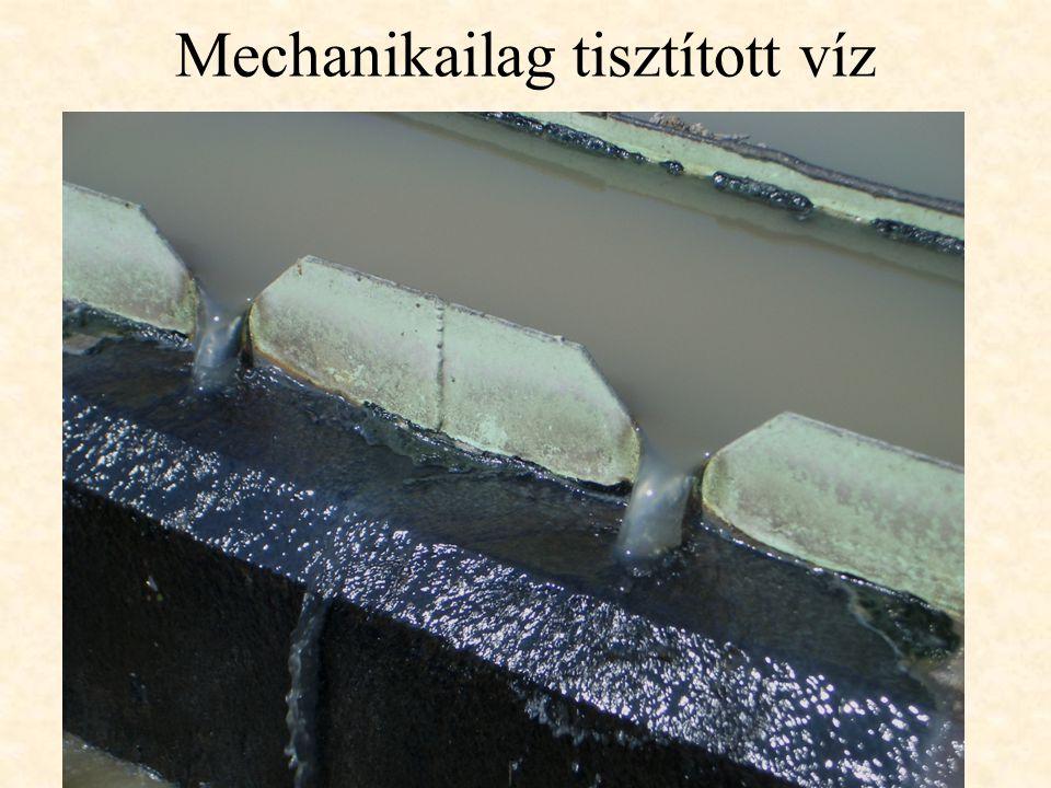 Mechanikailag tisztított víz